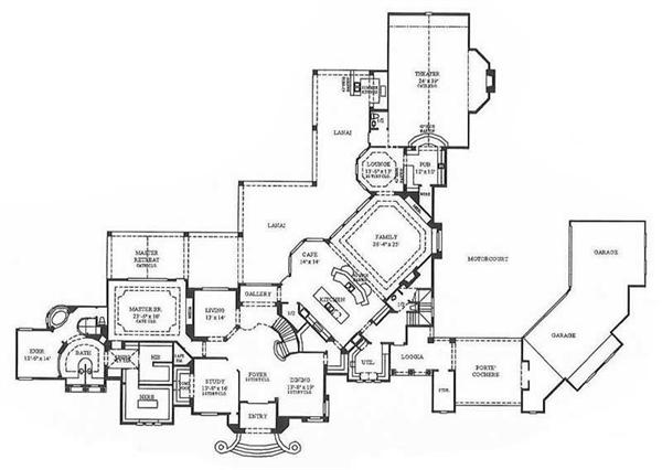 Custom Luxury Homes Floor Plans House Design Ideas
